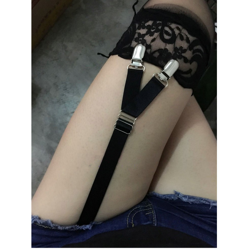 2pcs/1 Pair Women Sexy Garters High Quality Clips Suspender Accessories Leg Garters For Ladies Sock Holder G005 Price Remains Stable Men's Accessories