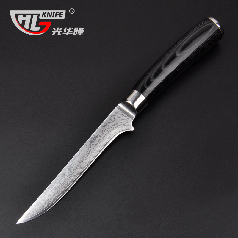 6 inch damascus boning font b knives b font Utility Japanese VG10 Damascus steel kitchen font