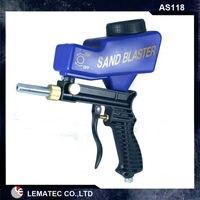 6 Sets Sandblasting Gun LEMATEC Hand Held Portable Air Sandblaster Gravity Feed Sand Blaster For Remove