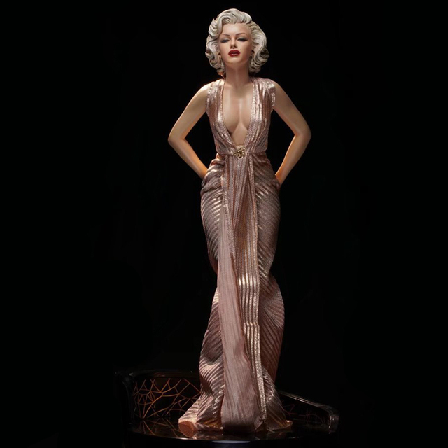 marilyn monroe statue action figure real clothes ver marilyn monroe