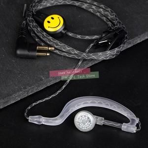 Image 1 - Yüksek kaliteli Walkie Talkie kulak kancası mikrofon kulaklık iki yönlü telsiz kulaklık M tipi kulaklık Motorola GP88 HYT 500S SMP A6 A8