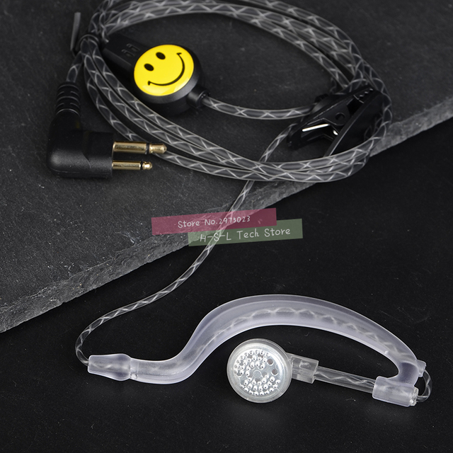 Yüksek kaliteli Walkie Talkie kulak kancası mikrofon kulaklık iki yönlü telsiz kulaklık M tipi kulaklık Motorola GP88 HYT 500S SMP A6 A8