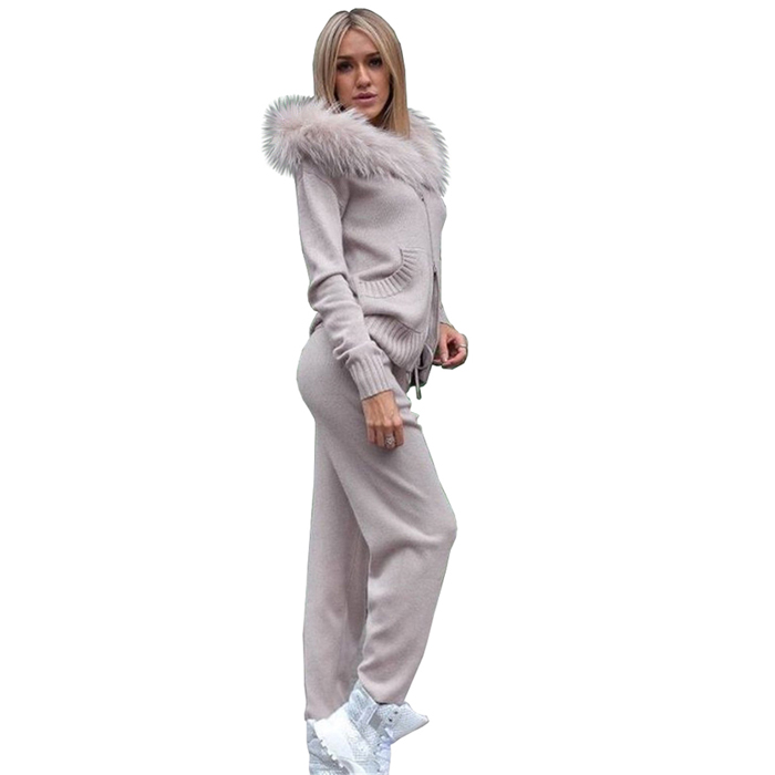 Winter Knitted Suit for Women 4