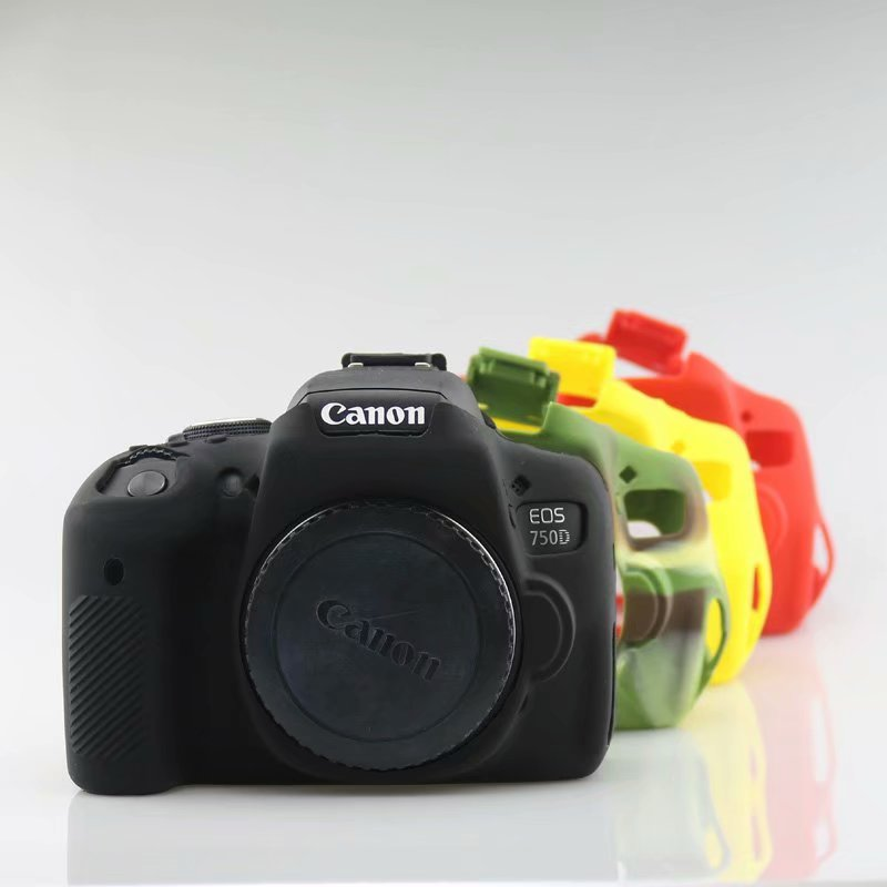 Camera Silicone Rubber Case <font><b>Cover</b></font> For <font><b>Canon</b></font> EF 100D 200D 600D 650D <font><b>700D</b></font> 750D 1300D 1500D 5D4 5D3 6D DSLR Camera image