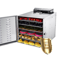 220V Commercial 6 Layers Electric Stainless Steel Fruit Meat Vegetable Herb Dryer Multifunctional Food Dehydrator Machine