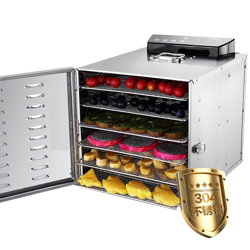 220V Commercial 6 Layers Electric Stainless Steel Fruit Meat Vegetable Herb Dryer Multifunctional Food Dehydrator Machine bear 220 v hand held electric blender multifunctional household grinding meat mincing juicer machine