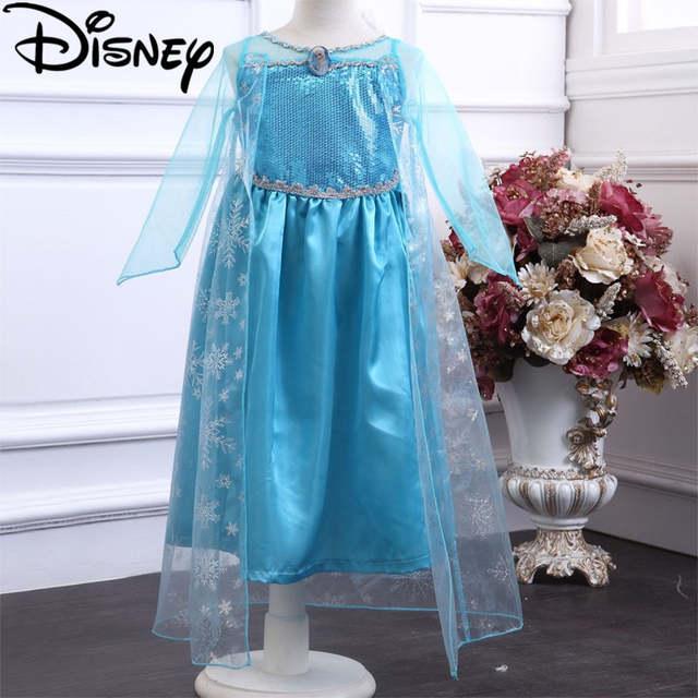 Disney Frozen dress Elsa costume snow queen party princess Anna girls  clothes vestidos infantis Halloween Birthday ea5b62f839