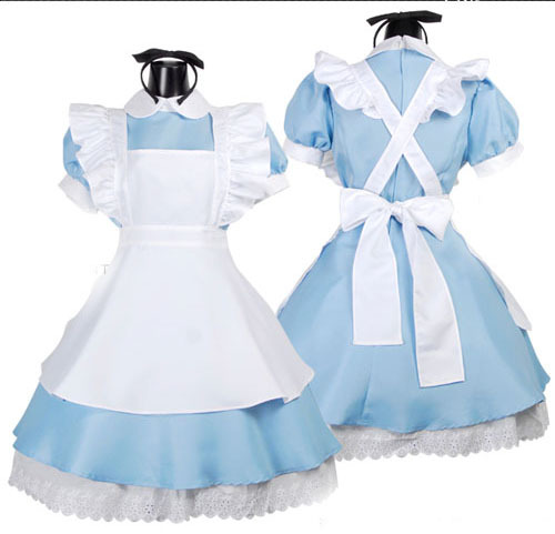 Free Shipping plus size  lolita  maid women's alice dream Cosplay costume dress
