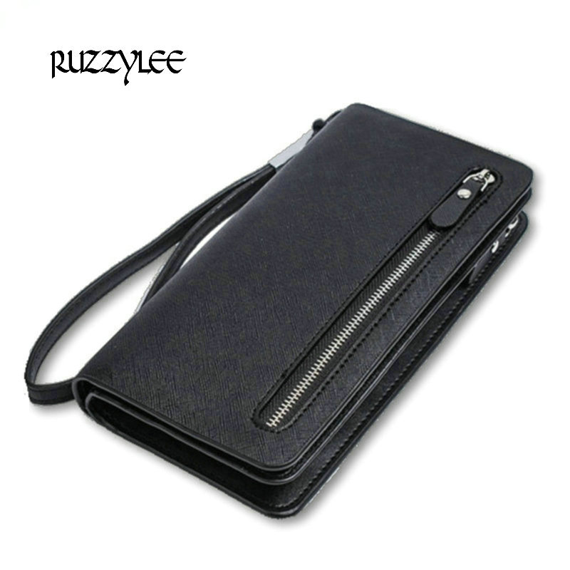 High Capacity Women Wallets Long Zipper Pu Leather Wallet Female Clutch New Real Luxury Women's Purse Ladies Wristlet Carteira double zipper men clutch bags high quality pu leather wallet man new brand wallets male long wallets purses carteira masculina