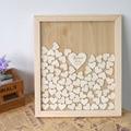 Custom Wedding guestbook alternative Personalised wood Heart Guest book Drop box Signature book wedding decoration