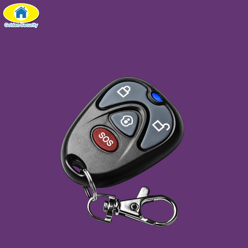 Golden Security Wireless Remote Controller 433 MHz Home Security Remote Control Key for S1WG G90B S3 Home Alarm System sound activated 433 92mhz 1 to 1 wireless key finder blue black 1 x cr2032