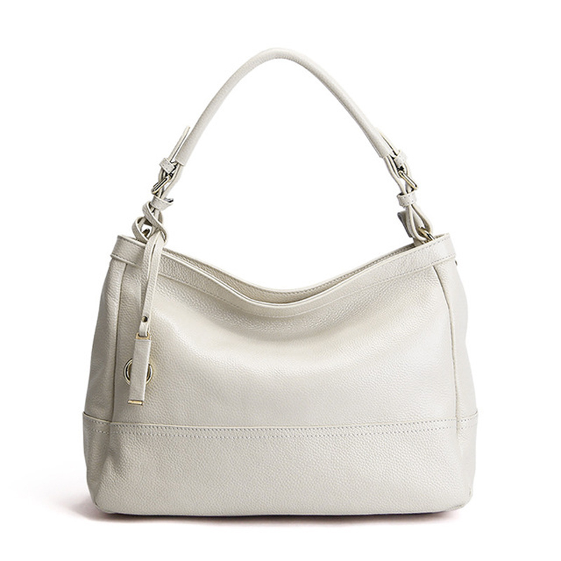 White Soft Natural leather women shoulder bags Ladies Cowhide handbag women messenger bags for sweet lady