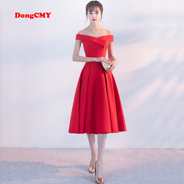 DongCMY CX0110 2018 new fashion medium party prom dress off shoulder ...