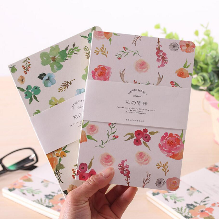 popular blank cover sheet buy cheap blank cover sheet lots from 80 sheet flowers cover sketchbook fresh and beautiful diary notebook hard surface thick blank graffiti notebook