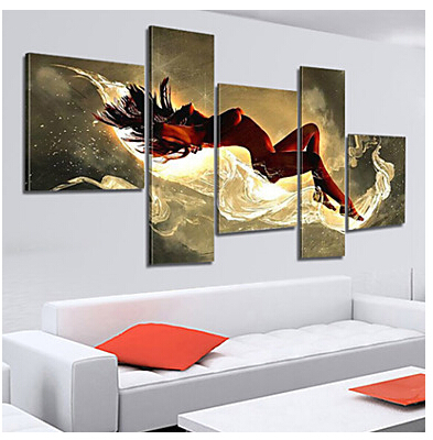 100% Hand Painted Nude Oil Painting Sensual Abstract Sensual Abstract Home  Decor Abstract Nude Oil Painting On Canvas 5pcs/set In Painting U0026  Calligraphy ...