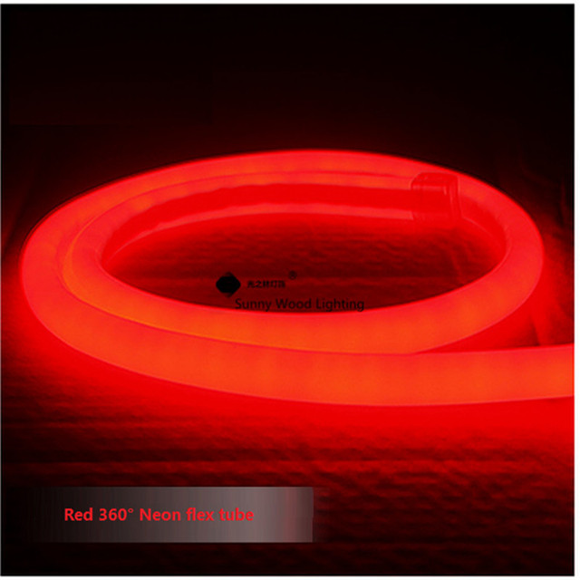 1-10m mini 14mm diameter round Neon flex,120pcs 2835/m 360 degree lighting led neon tube ,220-240V  led sign board tube