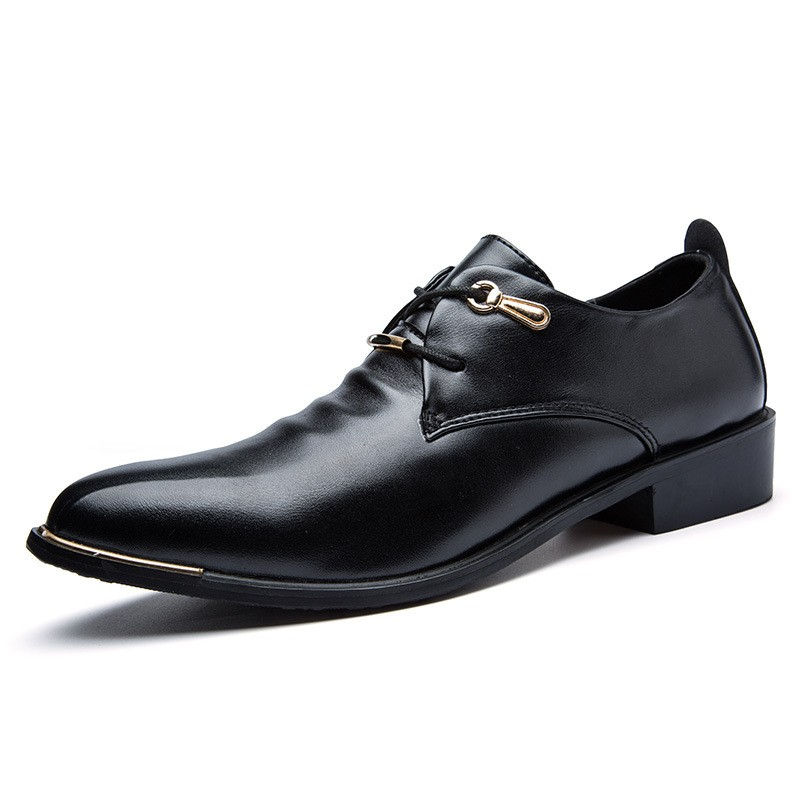 fashion italian designer formal mens dress shoes pu