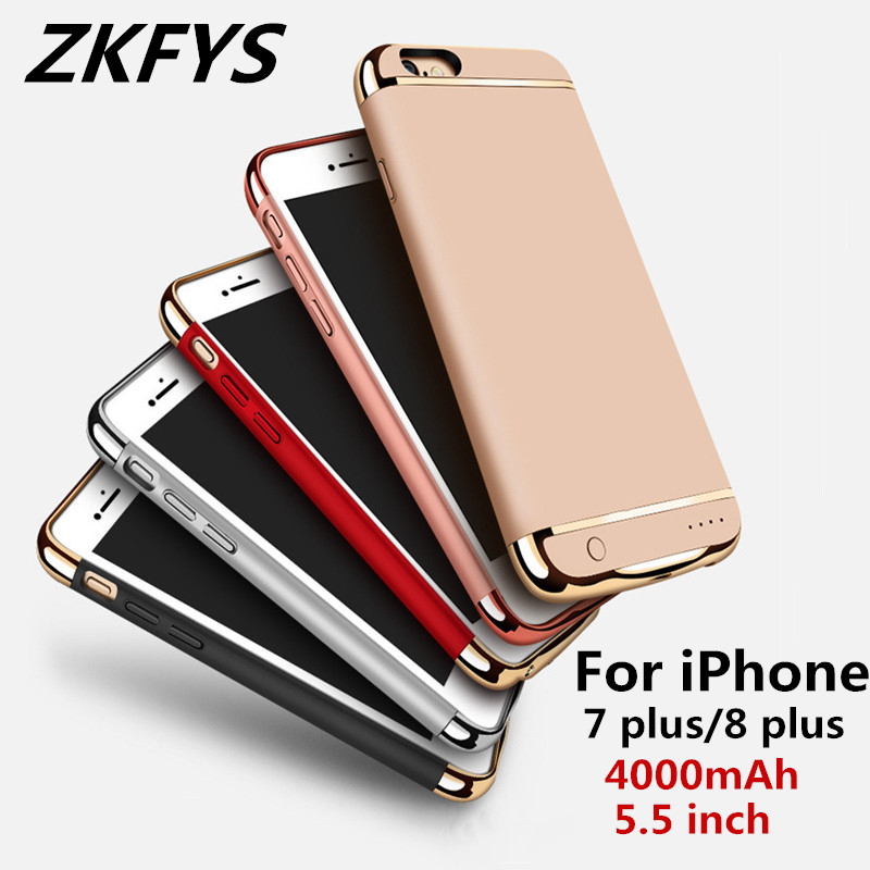 4000mAh Portable High Quality Power Bank Battery Cover For iPhone 7 plus 8 Charging Case