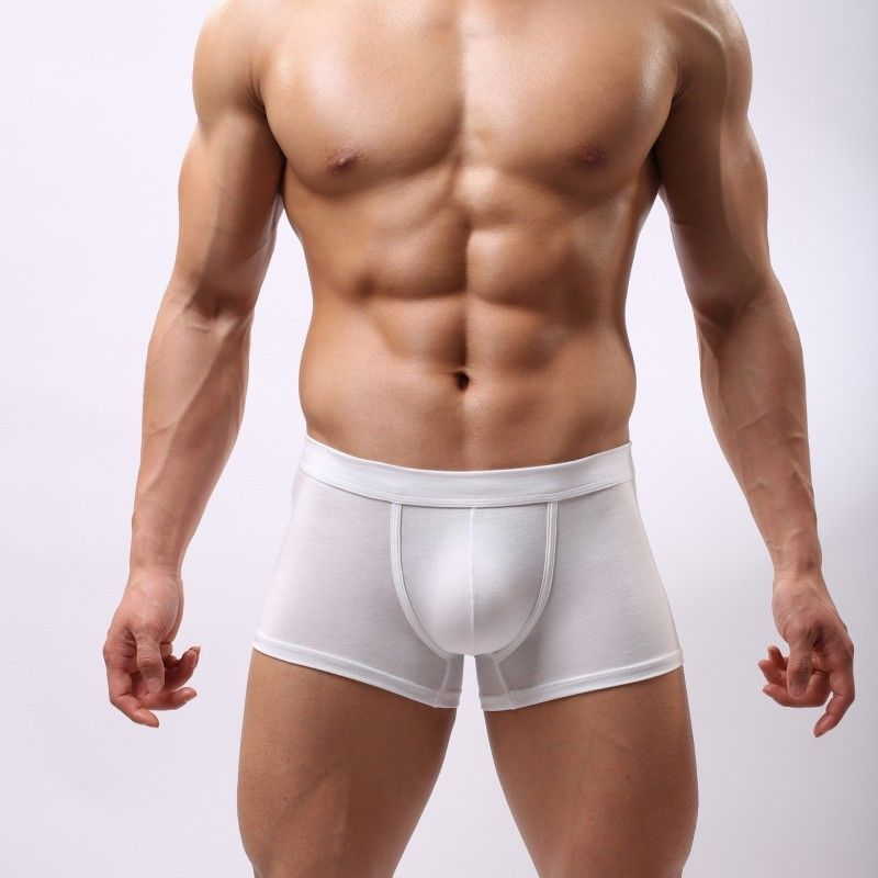 1PC New Hot Sell Fashion Men's Sexy Trunks Modal Underwear Shorts Boxers Underpants L-2XL