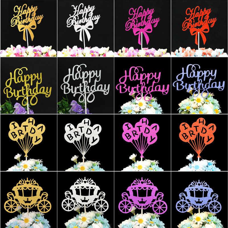 Bolo de aniversário decorações de festa de aniversário crianças cupcake toppers chuveiro do bebê menino decoração de festa favores feliz aniversário bolo topper