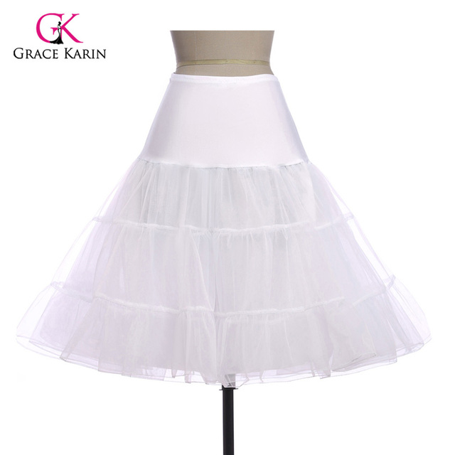 Petticoats For Wedding Dress Retro Vintage Women Pettiskirt Tutu Mini Skirt  Slips Tulle Underskirt Crinoline Jupon