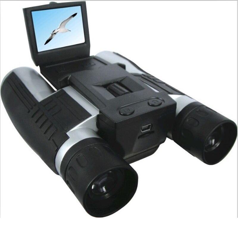 Профессиональный 12x32 HD бинокулярный телескоп DH 1080P Цифровая видеокамера 2,0 ''TFT CMOS 5MP телескоп видеокамера FS608R