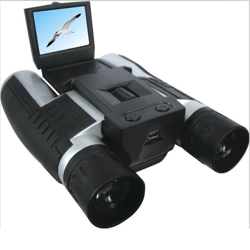 Profissional 12x32 HD Telescópio Binocular DH 1080P telescópio câmera de vídeo digital Filmadora 2.0 ''TFT CMOS 5MP FS608R