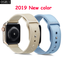 цена на Leather Strap for Apple watch 4 band 44mm 40mm correa iwatch series 4 3 2 42mm 38mm wrist belt bracelet apple watch Accessories