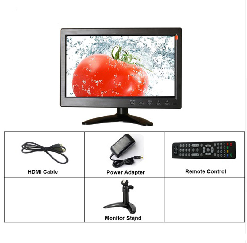 Image 5 - 10.1 inch 1280x800 HD Touch Screen for PS3/4 Computer Xbox Portable Display Security Monitor with Speaker VGA HDMI Interface-in LCD Monitors from Computer & Office