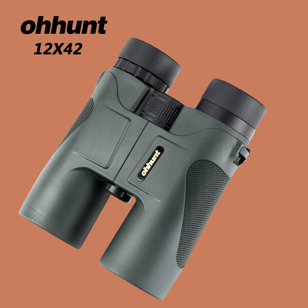 ohhunt Military 12X42 HD Telescope Wide-angle Power Zoom Binoculars No Infrared Eyepiece Hunting Scope for Hiking Camping new 1 25 f6mm 66 degree wide angle eyepiece for telescope