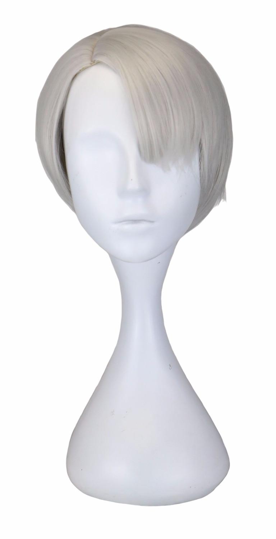 QQXCAIW Σύντομη Κέντημα Anime Cosplay Sliver Γκρι - Συνθετικά μαλλιά - Φωτογραφία 1