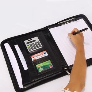 Папка для документов формата А4 Fichario, чехол-книжка для документов, блокнот с калькулятором, ручка на молнии, чехол для офисного менеджера из искусственной кожи
