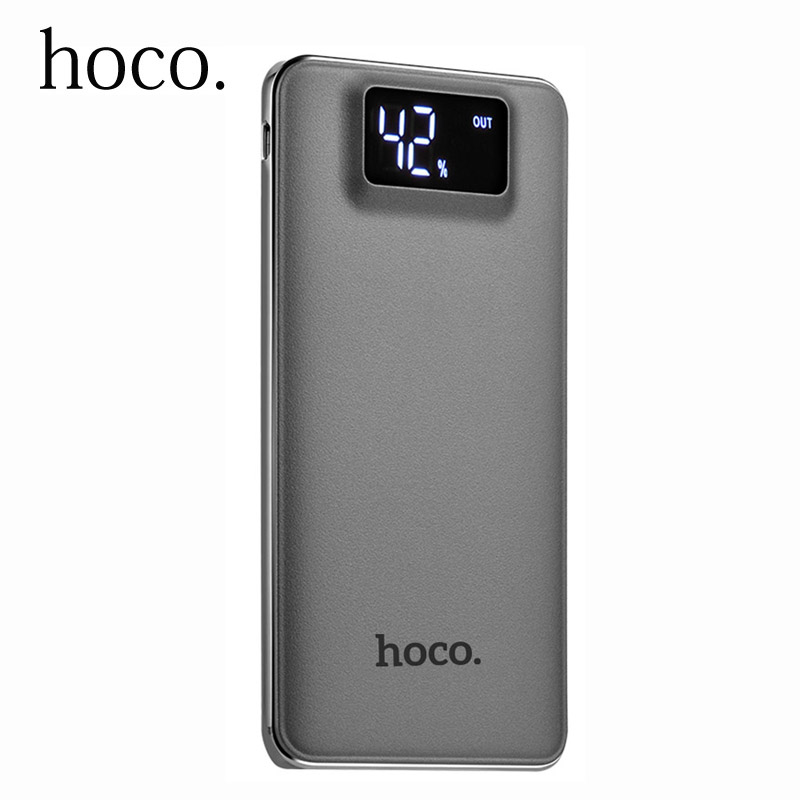 HOCO Power Bank 10000mah Dual USB LCD Display Polymer External Battery Portable Charger Powerbank For iphone