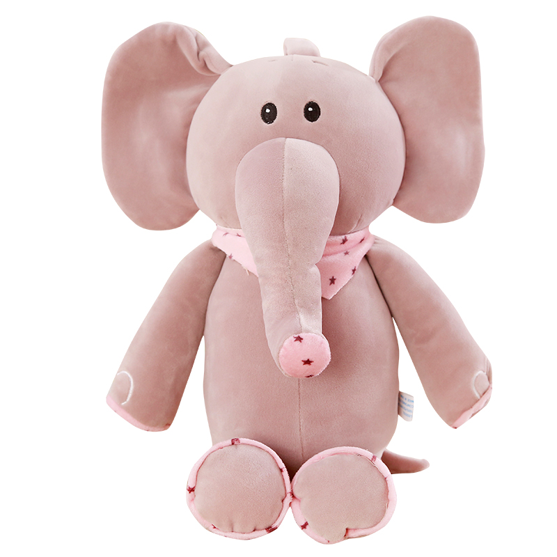 45cm Cute Elephant Plush Toys Doll Lovers Christmas Gifts Birthday Gift
