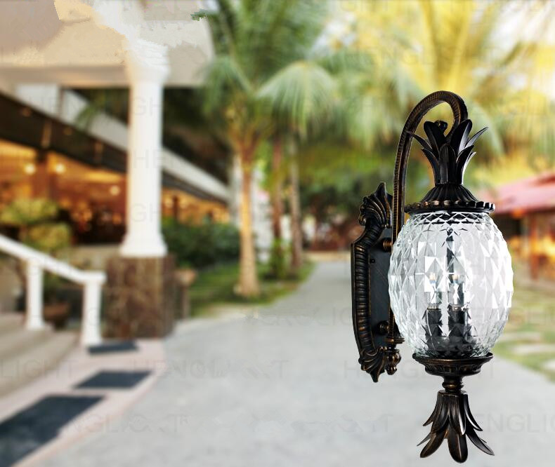Aliexpress.com : Buy European Style Outdoor Modern Wall Lamps Pineapple  Shape Glass +Aluminum Garden Wall Lamp Outdoor Lighting Use E14 Bulbs From  Reliable ...
