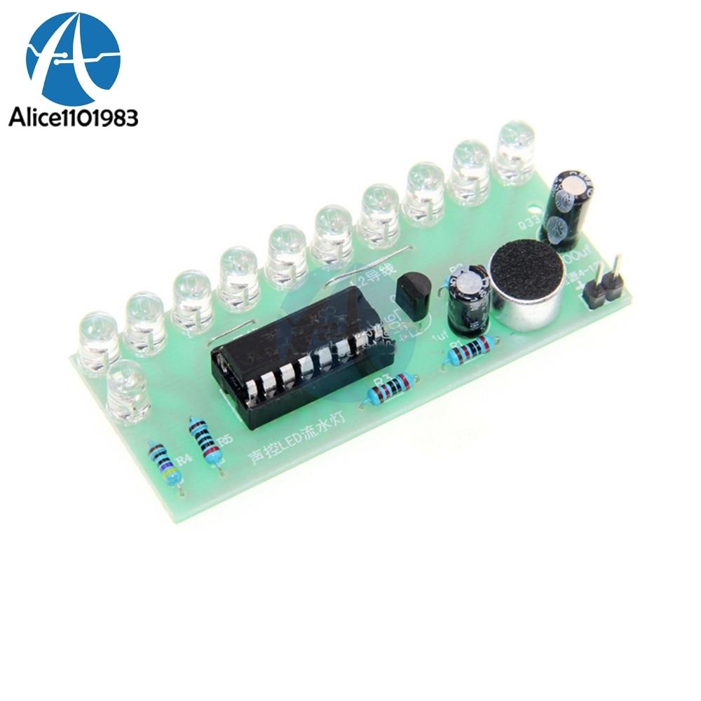 Voice-activated LED Water Light Kit CD4017 Lantern Control Fun Electronic Production Teaching Training Diy Electronic Kit Module