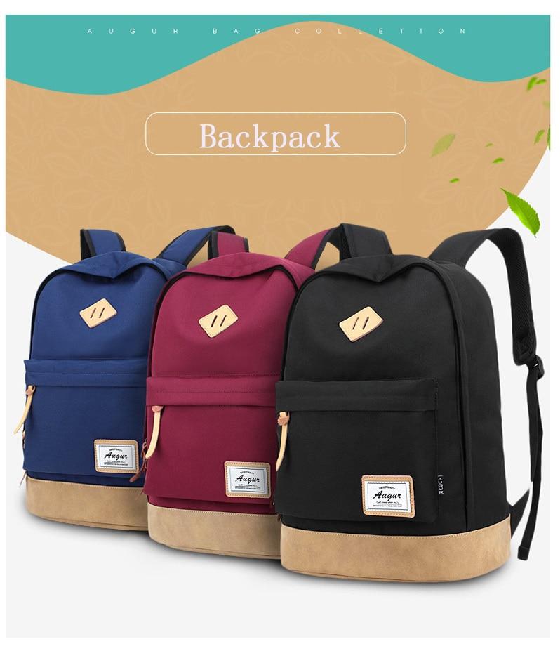 Augur homens mulheres mochila saco de escola