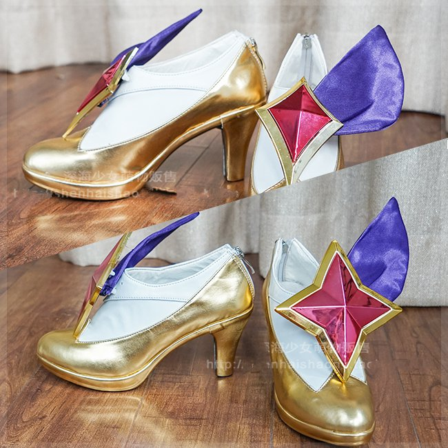 LOL Ahri Cosplay Shoes Star Guardian Ahri Cosplay Shoes LOL Game Prop Shoes