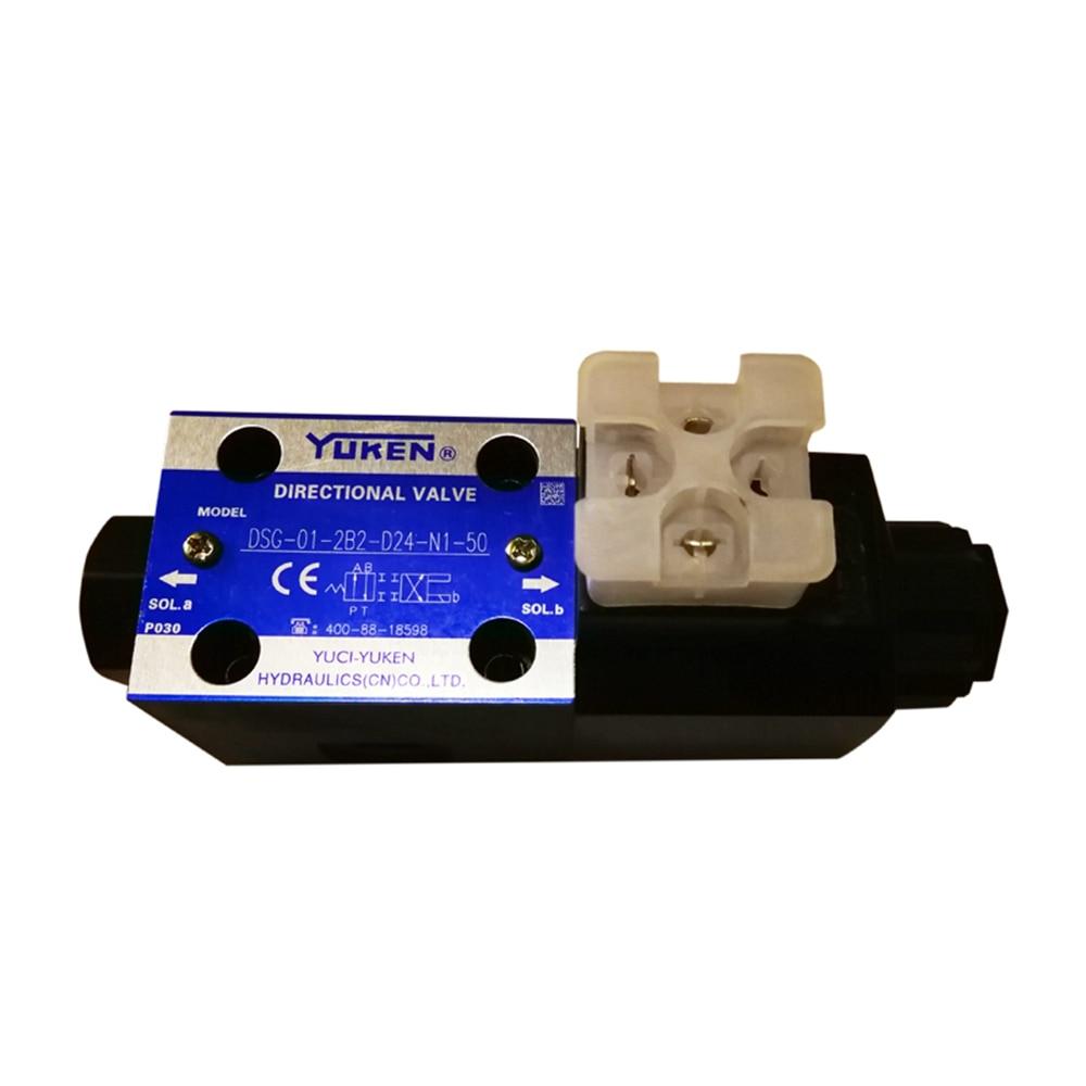 Yuken DSG 01 Valves Solenoid Operated Directional Valves DSG 01 2B2 D24 N1 50