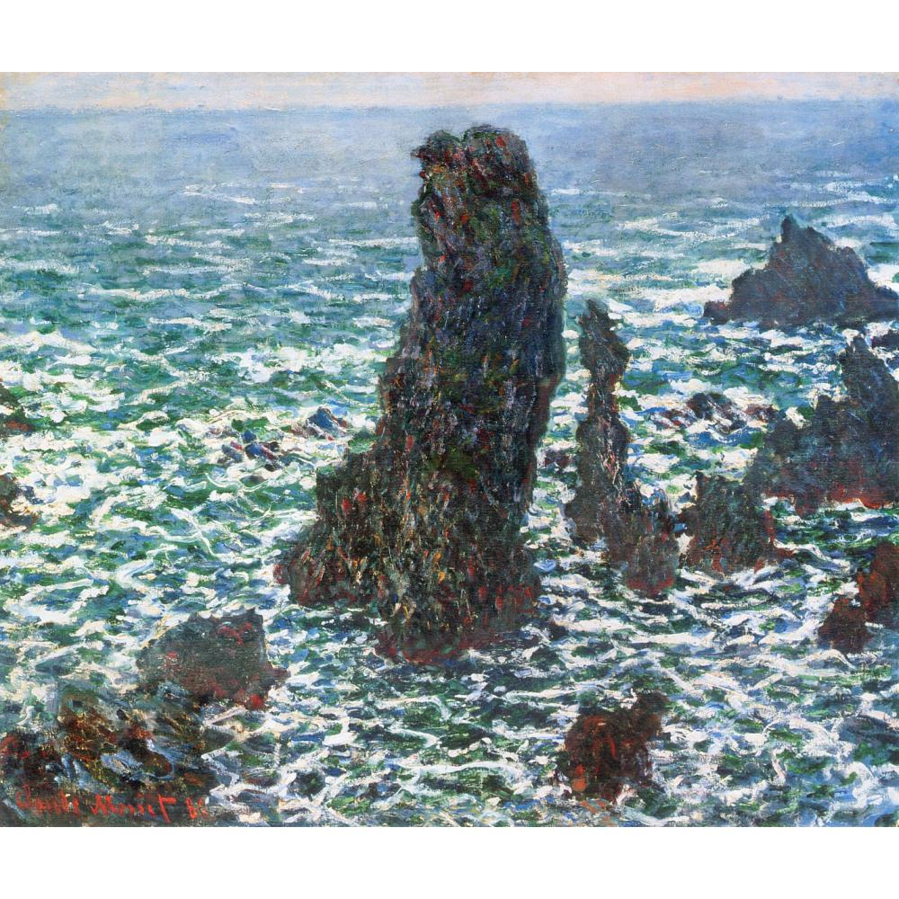 High quality Claude Monet paintings for sale The Pyramids of Port Coton, Belle Ile en Mer Canvas art hand painted
