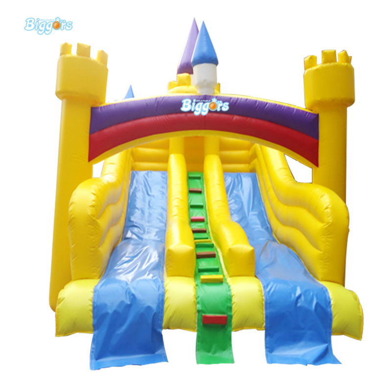 Inflatable Biggors Inflatable Pool Slide Dual Slide With Arch Rental For Sale popular best quality large inflatable water slide with pool for kids