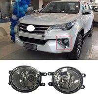 2PCS 1 Set Fog Lamp Fit for Fortuner 2015 2016 2017 Fog Lights Daytime Running Light Waterproof Headlight DRL Car Accessories