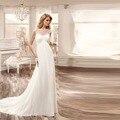 Nupcial Del Verano Sexy de Encaje Apliques de Gasa de la Playa Vestido de Novia 2016 Barato Robe De Mariage vestido de Novia Casamento