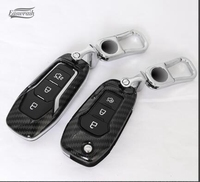 2018 New Gift Car ABS Carbon Fiber Key Cover Case Shell Chain For Ford Everest Explorer