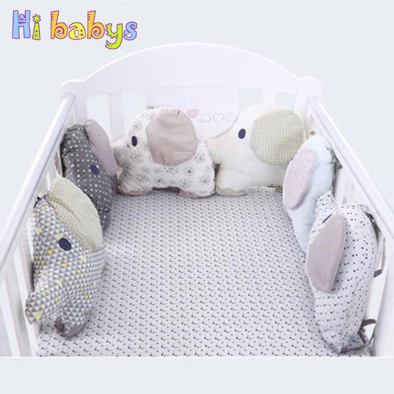 6 pièces bébé berceau pare-chocs dossier doux Aimal éléphant infantile lit oreiller coussin protecteur pour les nouveau-nés bébé chambre décoration