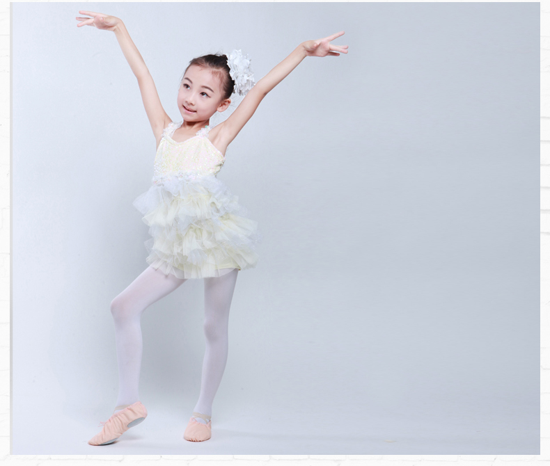 white flower girl princess dress  latin Ballet Tutu latin dance dress kids children girl Costumes ballet dance wear performance ballet tutu costumes ballet tutu ballet dance wear -