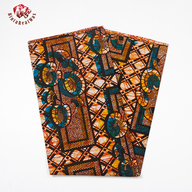 Good Quality African Real Fabric Wax Printed Wax Fabric Fashion Design 100 Cotton African Real Wax