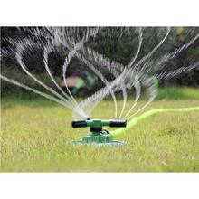 360 Degree Circle Rotating Water Sprinkler 3 Nozzles Three Arm Garden Pipe Hose Irrigation System Grass Lawn Garden Watering