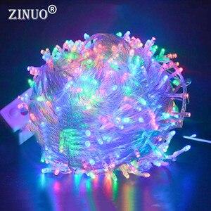 Image 3 - Urlaub Led Weihnachten Lichter Girlande String Light10M 20M 30M 50M 100M AC220V Weihnachten Wasserdicht Weihnachten Lichter dekoration Lampe