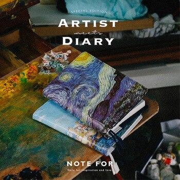 2018 новая версия художник серии A5 A6 журнал Hobonichi модные дневник в полиуретановой обложке 120 листов купить сейчас получить ПВХ покрытие беспла...
